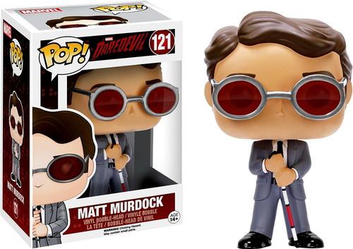 Funko Daredevil POP! Marvel Matt Murdock Vinyl Bobble Head #121 [Damaged Package]