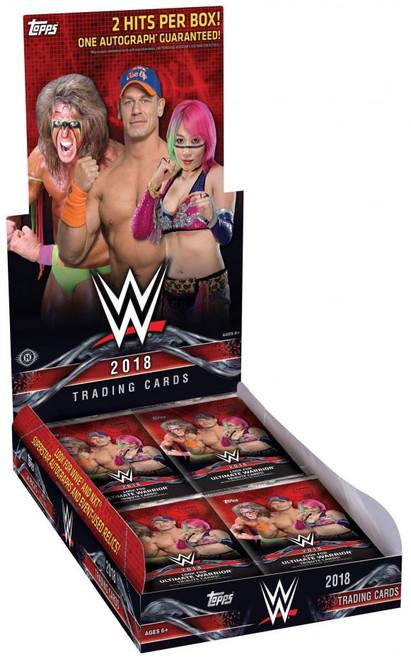 WWE Wrestling Topps 2018 Trading Card HOBBY Box [24 Packs]
