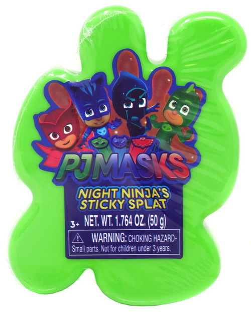 Disney Junior PJ Masks Night Ninja's Sticky Splat 1.764 OZ. Slime [Green]