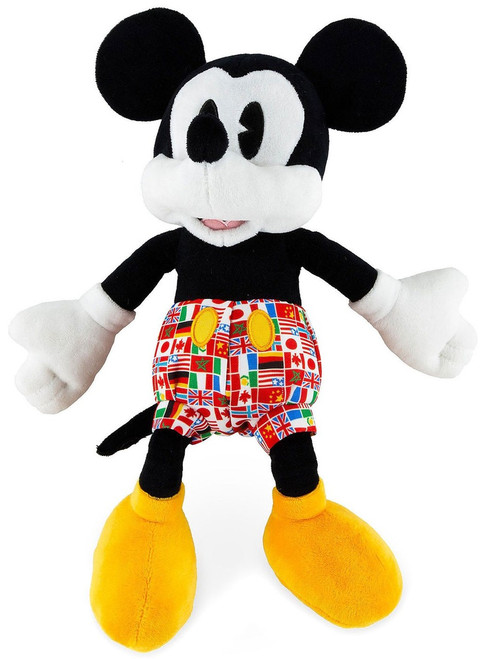 Disney Mickey Mouse Epcot Flags Exclusive 11-Inch Plush