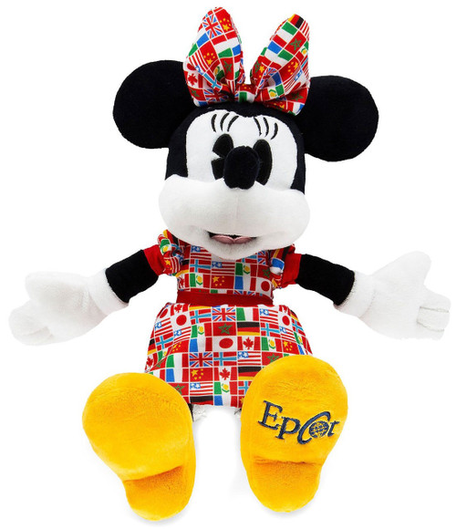 Disney Minnie Mouse Epcot Flags Exclusive 11-Inch Plush