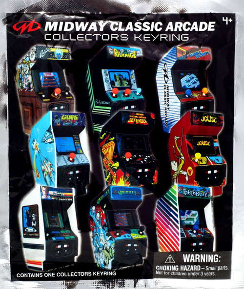 3D Figural Keyring Retro Arcade Games Midway Classic Arcade Mystery Pack