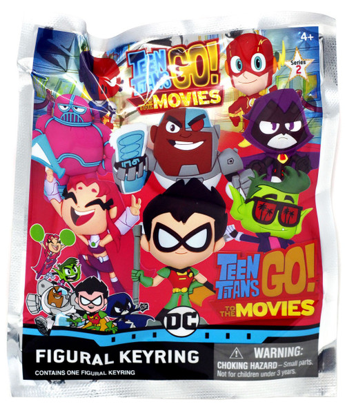 3D Figural Keyring Teen Titans GO! to The Movies Mystery Pack