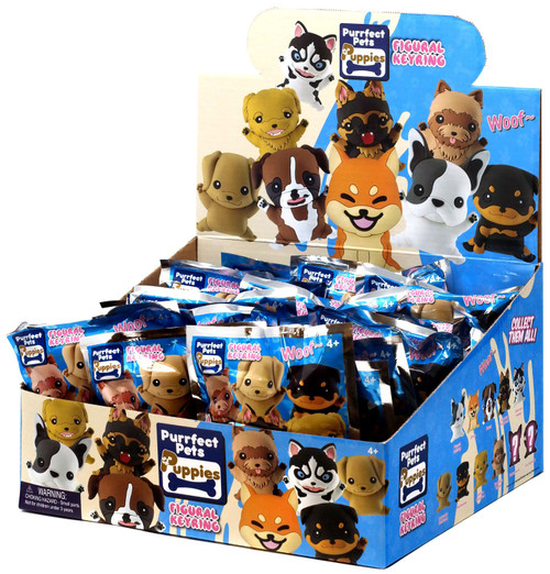 Purrfect Pets 3D Figural Keyring Puppies Mystery Box [24 Packs]
