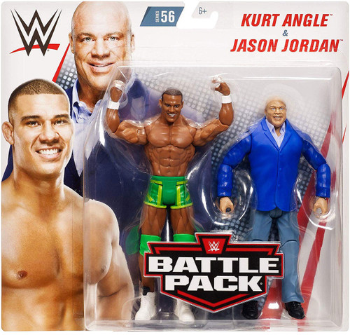 WWE Wrestling Battle Pack Series 56 Kurt Angle & Jason Jordan Action Figure 2-Pack