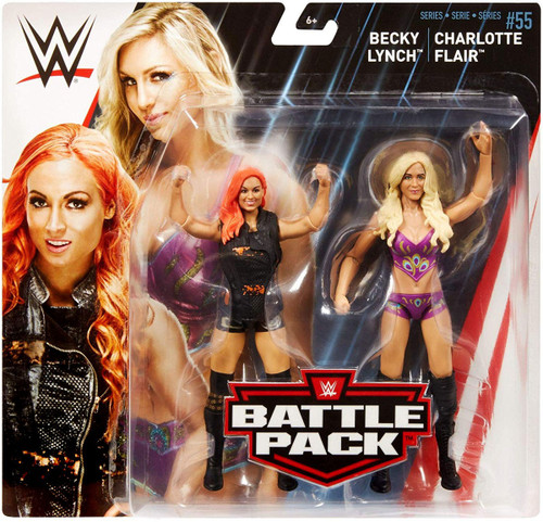 WWE Wrestling Battle Pack Series 55 Becky Lynch & Charlotte Flair Action Figure 2-Pack