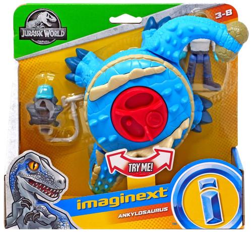 Fisher Price Jurassic World Imaginext Ankylosaurus Figure Set