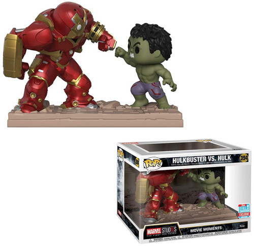 Funko Marvel Studios: The First Ten Years POP! Marvel Hulkbuster Vs. Hulk Exclusive Vinyl Bobble Head #394