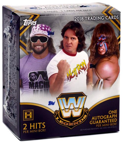 WWE Wrestling Topps 2018 Legends Trading Card MINI Box [6 Packs, 2 Hits, 1 Autograph!]