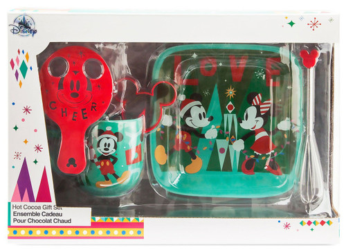 Disney Santa Mickey and Minnie Mouse Hot Cocoa Exclusive Gift Set