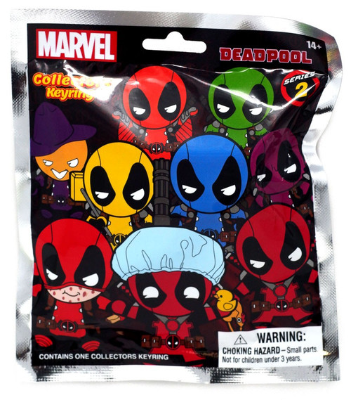 Marvel 3D Figural Keyring Deadpool Series 2 Mystery Pack [1 RANDOM Figure]