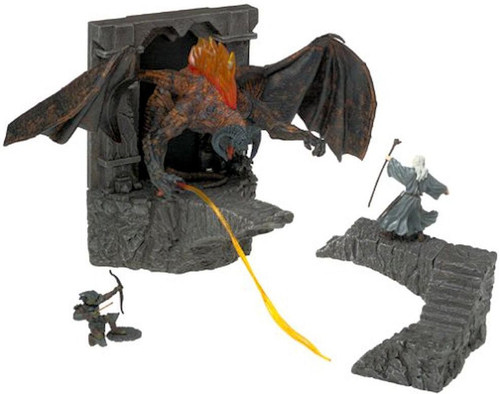 The Lord of the Rings Armies of Middle Earth Environment Bridge of Khazad-dum with Balrog 2.5-Inch Figure Set [Loose]