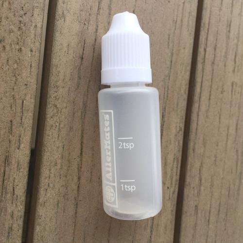AllerMates 3 Pack of Travel Size, Mini Meds Bottles for Liquid Medicines Mini Med Bottles