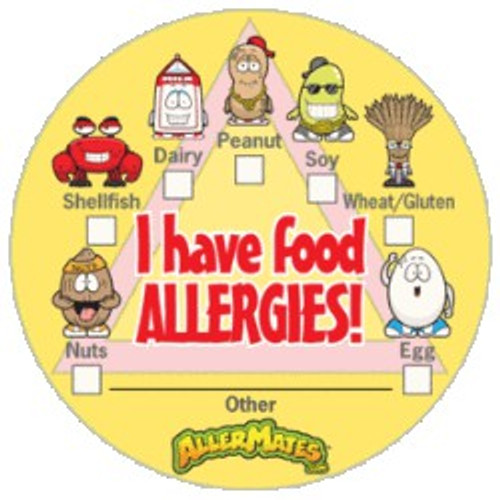 AllerMates I Have Allergies Checkbox Alert Stickers: 12 Pks/24 per pk/288 stickers total Sticker