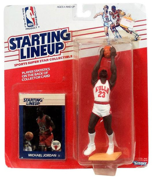 NBA Starting Lineup Super Star Collectible Michael Jordan Action Figure [1988]