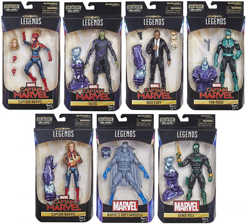 Captain Marvel Marvel Legends Kree Series Set of 7 Action Figures