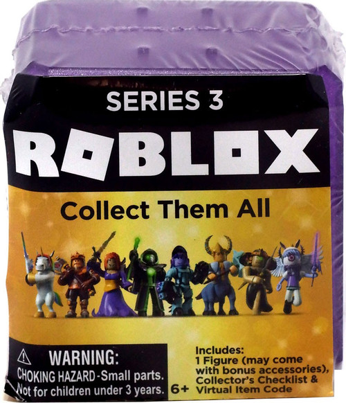 Roblox Celebrity Collection Series 3 Mystery Pack [Purple Cube, 1 RANDOM Figure & Virtual Item Code!]
