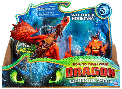 How to Train Your Dragon The Hidden World Snotlout & Hookfang Action Figure 2-Pack