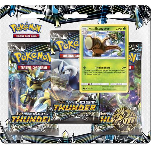 Pokemon Trading Card Game Sun & Moon Lost Thunder Alolan Exeggutor Special Edition [3 Booster Packs, Promo Card & Coin!]