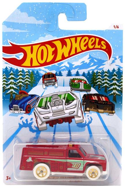 Hot Wheels 2018 Holiday Hot Rods Rapid Responder Diecast Car #1/6