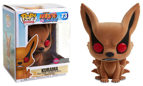 Funko Naruto POP! Anime Kurama Exclusive 6-Inch Vinyl Figure #73 [Super-Sized, Flocked]