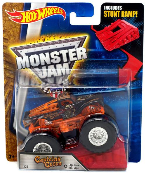 Hot Wheels Monster Jam Captain's Curse Die-Cast Car [Edge Glow]
