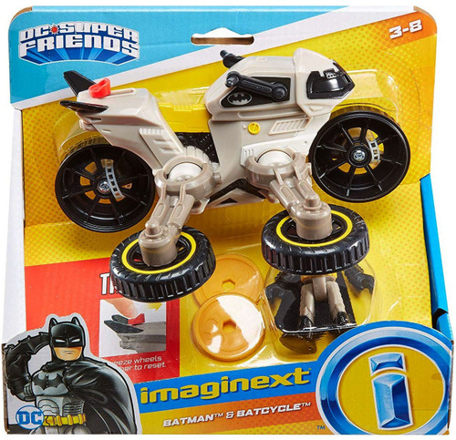 Fisher Price DC Super Friends Imaginext Batman & Batcycle 3-Inch Figure Set [Hoverbike]