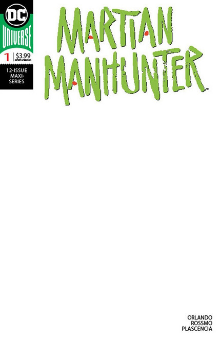DC Martian Manhunter #1 of 12 Comic Book [Blank Variant]