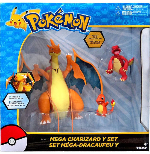 Pokemon Mega Charizard Y Exclusive Figure 3-Pack Set [Damaged Package]