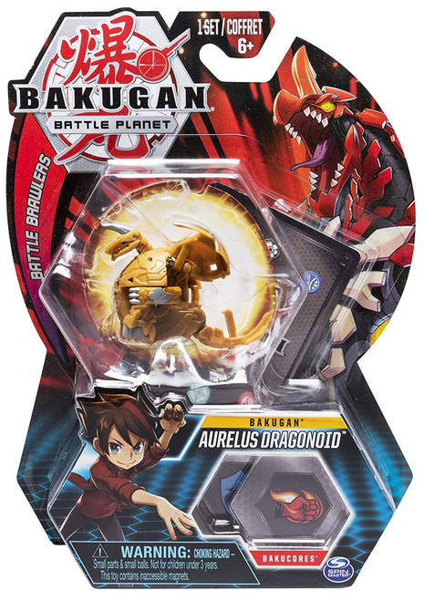 Bakugan Battle Planet Battle Brawlers Bakugan Aurelus Dragonoid
