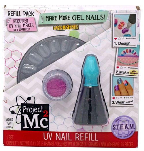 Project MC2 UV Nail Refill Refill Pack [Teal]