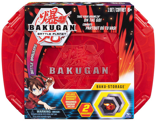 Bakugan Battle Planet Battle Brawlers Baku-Storage Storage Case [Red, Includes Dragonoid]