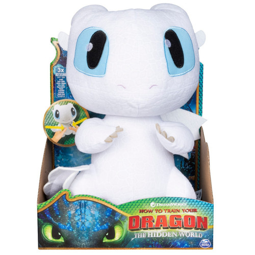 How to Train Your Dragon The Hidden World Squeeze & Growl Lightfury Exclusive 10-Inch Plush with Sound