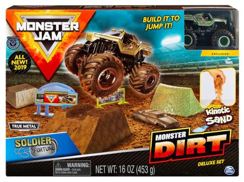 Monster Jam Monster Dirt Soldier Fortune Playset