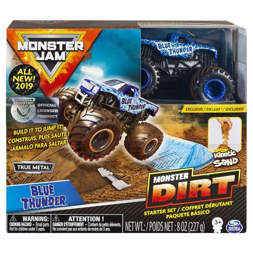 Monster Jam Monster Dirt Blue Thunder Starter Set [Box Style May Vary, Exact Contents!]