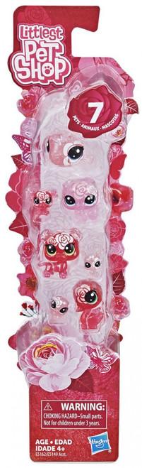 Littlest Pet Shop Petal Party Rose Collection Figure 7-Pack