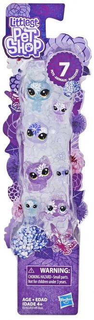 Littlest Pet Shop Petal Party Hydrangea Collection Figure 7-Pack