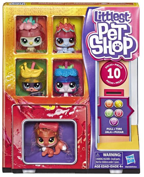 Littlest Pet Shop Pet Coolers Slushie Squad Figure 5-Pack