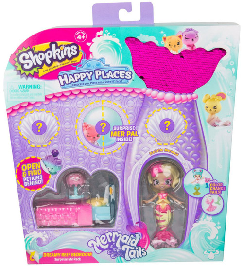 Shopkins Happy Places Season 6 Mermaid Tails Dreamy Reef Bedroom Surprise Me Pack [Starlette Mermaid]