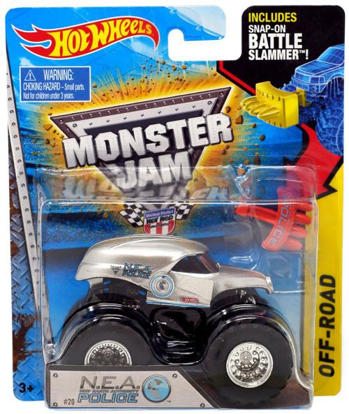 Hot Wheels Monster Jam N.E.A. Police Die-Cast Car #20 [Battle Slammer]