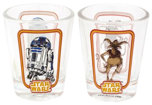 Funko Star Wars R2-D2 & Salacious B. Crumb Exclusive Set of 2 Toothpick Holder / Shot Glass [Jabba's Skiff]