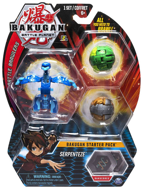 Bakugan Battle Planet Battle Brawlers Starter Pack Serpenteze 3-Figure Set