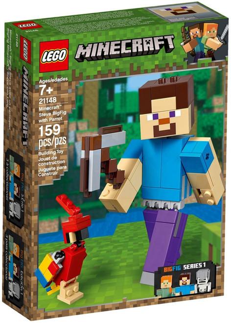 LEGO Minecraft Steve BigFig with Parrot Set #21148