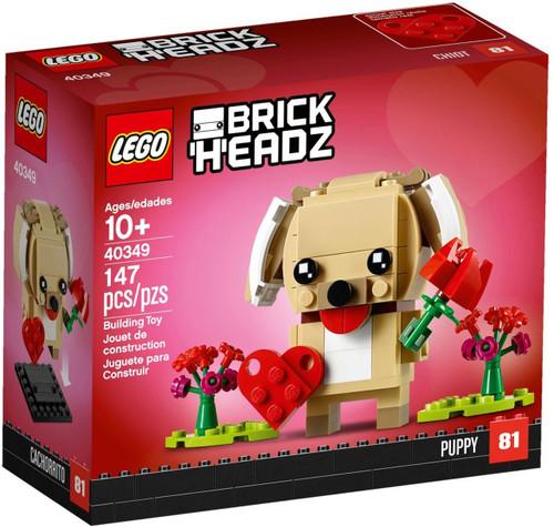 LEGO Holiday Brick Headz Valentine's Puppy Set #40349