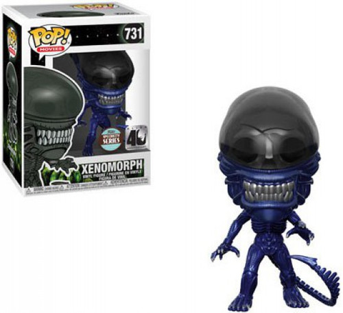 Funko 40th Anniversary POP! Movies Alien Xenomorph Exclusive Vinyl Figure #731 [Blue Metallic, Specialty Series]