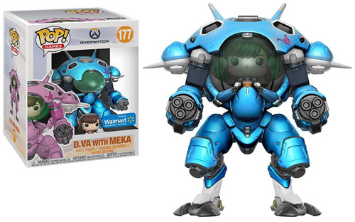 Funko Overwatch POP! Games D.Va with Meka Exclusive 6-Inch Vinyl Figure #177 [Super-Sized, Blue]