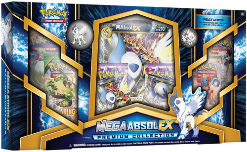 Pokemon Trading Card Game XY Mega Absol EX Premium Collection Box [6 Booster Packs, Oversize Card, 2 Promos & Pin!]
