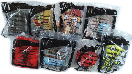Pirates of the Caribbean Dead Man's Chest Happy Meal Set of 8 Toys