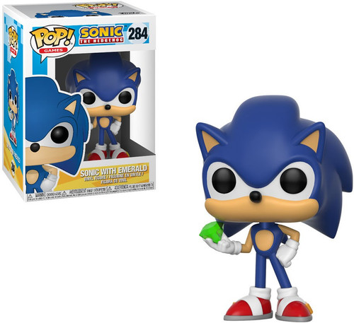 Funko Sonic The Hedgehog POP! Games Sonic with Emerald Vinyl Figure #284 [Damaged Package]