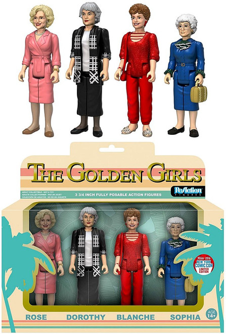 Funko Golden Girls ReAction Rose, Dorothy, Blanche & Sophia Exclusive Action Figure 4-Pack [Damaged Package]
